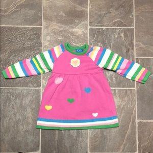 Girls sweater dress & tights